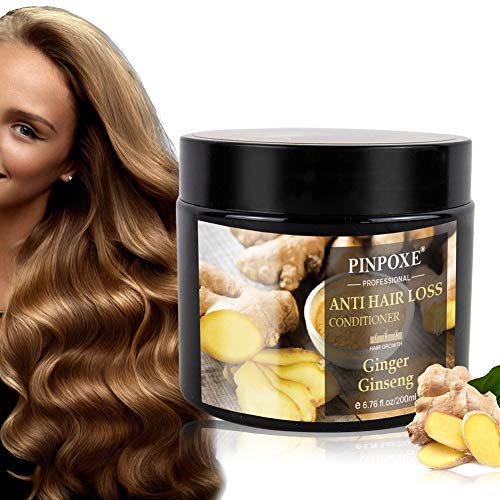 Hair Mask, Anti Hair Loss Conditioner, Hair Treatment, Deep Hair Conditioner with Ginger Essence Extract, Restore Dry & Damaged Hair, Deep Conditioner Molecular Hair Roots Treatment (Best Hair Mask For Hair Loss)