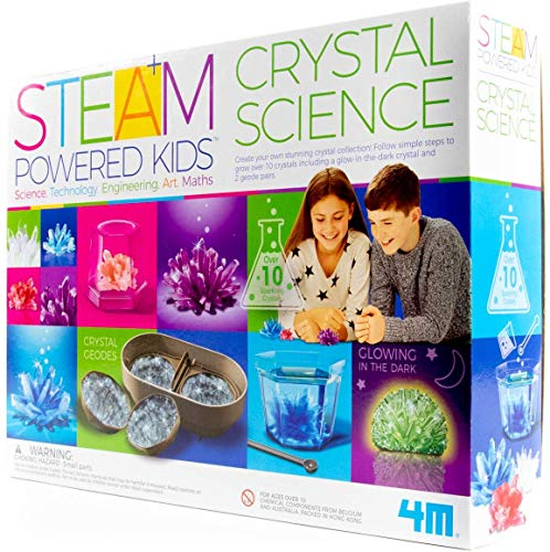 51tgFuzV9%2BL - 4M Deluxe Crystal Growing Combo Steam Science Kit - DIY Geology, Chemistry, Art, STEM Toys Gift for Kids & Teens, Boys & Girls