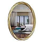Greawei@ Simple Modern Decorative Wall Hanging Oval Bathroom Makeup Mirror Dressing Mirror Simple and Elegant (Color : #4, Size : 70 * 90cm)