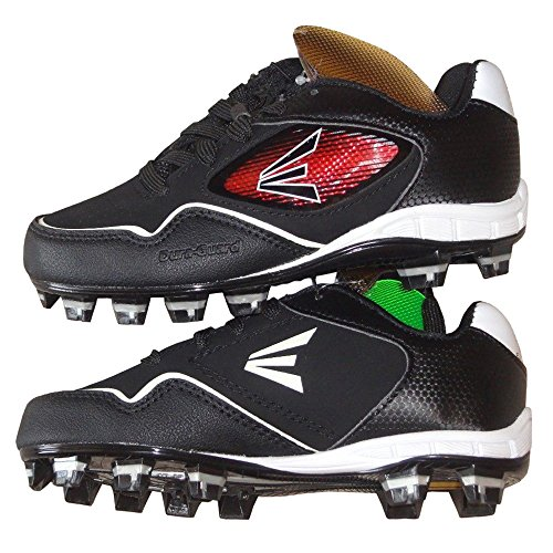 Easton Boys Black Baseball Cleats with Inserts (5) - Image 4