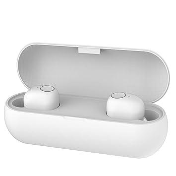 Auriculares Bluetooth, Auriculares inalámbricos Bluetooth Auriculares Deportivos Auriculares Bluetooth Regalo de Empresa (Blanco)