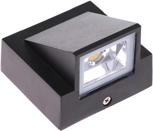 Aimshew Aplique de jardín al Aire Libre Inteligente Exterior 3W LED Aplique de Pared Luz Impermeable Edificio Exterior Puerta Lámpara Iluminación a Prueba de Intemperie: Amazon.es: Hogar