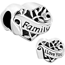 CharmSStory Mothers Day Gifts Grandma/Wife/Sister/Niece/Aunt Heart I Love You Beads For Bracelets