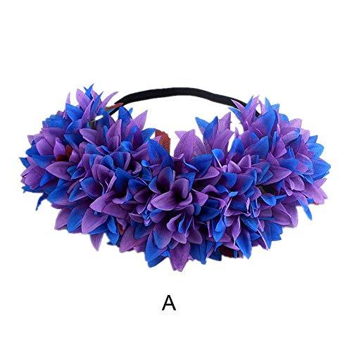 1PC Halloween Headband LODDD Fashion Simulation Lily Headband Hair Hoop -