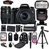 Canon EOS T6s Digital SLR Camera Bundle with Canon EF-S 18-55mm f/3.5-5.6 IS STM Lens + Professional Accessory Bundle (16 items)