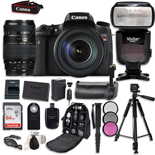 Canon EOS T6s Digital SLR Camera Bundle with Canon EF-S 18-5