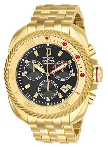 Invicta Men's JT Quartz Watch with Stainless Steel Strap, Gold, 24 (Model: 26420