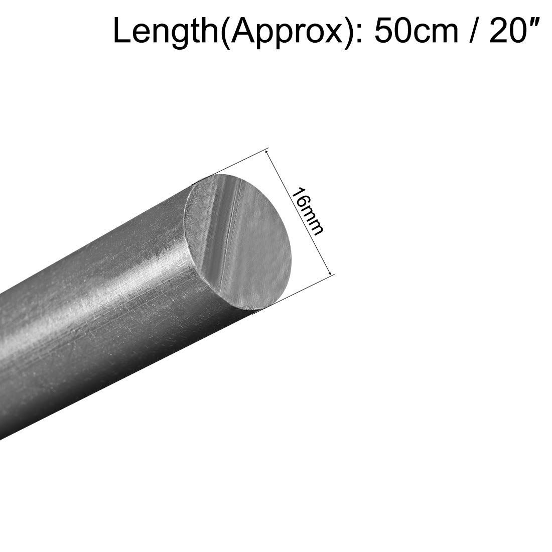 PVC Dia sourcing map Plastic Round Rod 10.5mm 20 Length Polyvinyl Chloride Rods,3//8 Grey Engineering Plastic Rod 2pcs