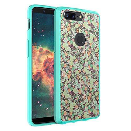 - OnePlus 5T Case, Capsule-Case Hybrid Slim Hard Back Shield Case with Fused TPU Edge Bumper (Teal Mint Green) for OnePlus 5T - (Green Azalea)