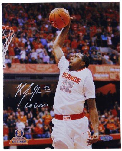 NCAA Syracuse Orange Kris Joseph White Jersey Dunk Vertical Photograph with