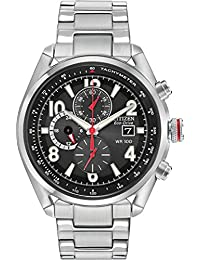 Citizen Eco-Drive Men's Chronograph Watch in Stainless Steel