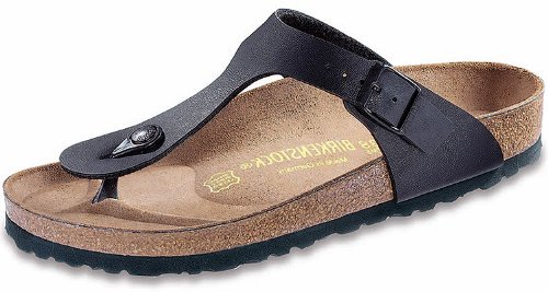 cc44736ecd9a Galleon - Birkenstock Women s Gizeh Black Birko-Flor Sandals 38 R (US  Women s 7-7.5)