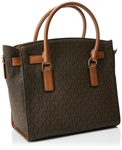 Michael Kors Hamilton - Bolsos maletín Mujer Marrón (Brown)