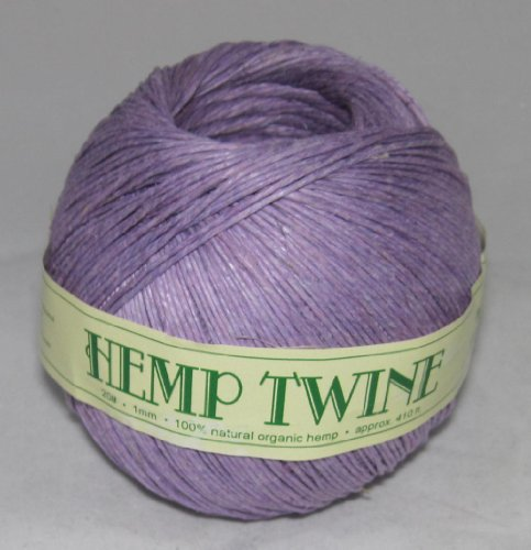 1mm 20# Hemp Twine Cording 100% Natural Organic - 20# 1mm approx. 410ft -COLOR VIOLET PURPLE