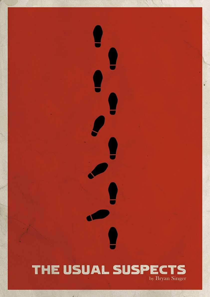 Poster The Usual Suspect Minimalist Movie Poster Wall Art