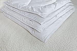 Down Alternative Duvet Comforter 100% Peruvian Alpaca Wool Fill - All-Season Hypoallergenic Thermal Control - All natural sustainable