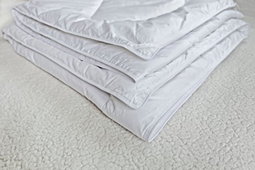 Down Alternative Duvet Comforter 100% Peruvian Alpaca Wool Fill - All-Season Hypoallergenic Thermal Control - All natural sustainable, King/Cal King