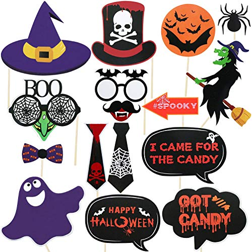 Halloween Photo Booth Props Kit | Happy Halloween Photo Props | No DIY Required | Large Size, 33 -