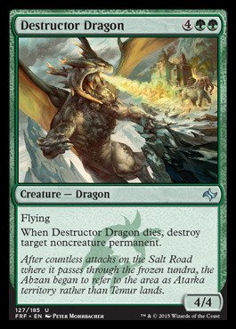 Magic: the Gathering - Destructor Dragon (127/185) - Fate Reforged (Permanent Target Mtg Destroy)