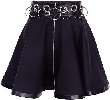 Mujer Falda Corta Gótico Harajuku Estilo Falda Cintura Alta Slim ...