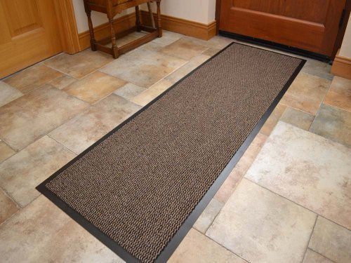 Extra Large Big Dark Light Beige Hardwearing Heavy Duty Black PVC Edge Pile Top Rubber Barrier Entrance Door Kitchen Utility Dust Floor Long Short Narrow Hall Hallway Runners Mats Rugs 60cm x 180cm Rugs Supermarket Size 60cm x 180cm