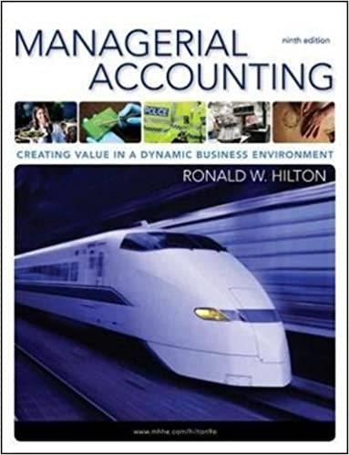 Managerial accounting creating value in a dynamic business managerial accounting creating value in a dynamic business environment 9th ronald w hilton 9780078110917 amazon books fandeluxe Images