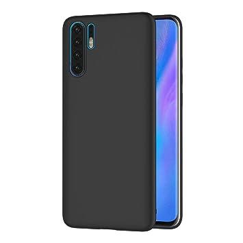 AICEK Funda Huawei P30 Pro, Negro Silicona Fundas para Huawei P30 Pro Carcasa Huawei P30 Pro Negro Silicona Funda Case