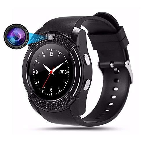 (U8 Blueteeth Smart Watch,Teepao Pro Smartwatch with Camera Fitness Tracker SD Card SIM Card Intelligent Bracelet Walking Distance Sleep Monitor for Android/Huawei/iPhone,Men/Women (Black))