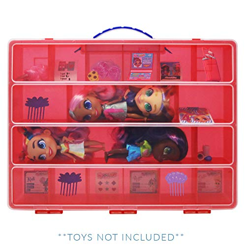 Life Made Better Durable Doll Case, Compatible with Hairdorable Dolls and Accessories, Red