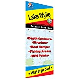 Wylie Fishing Map, Lake (NC/SC)