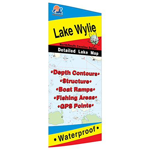 Wylie Fishing Map, Lake (NC/SC)