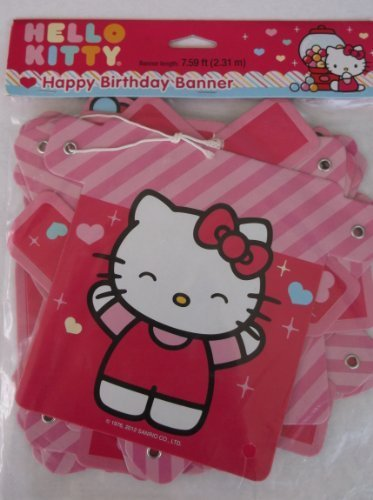 Happy Birthday Hello Kitty - Hello Kitty 'Sweet Gumdrop' Happy Birthday Banner (1ct)