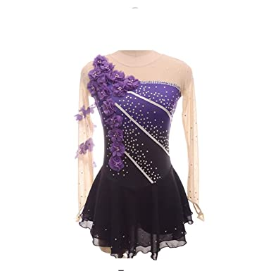b0ca1869e41ca0 Image Unavailable. Image not available for. Color: Purple Gradiant Ice  Figure Skating Dress ...