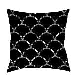 Best Thumbprintz Pillows - Thumbprintz Art Deco Circles Black and white Indoor/ Review