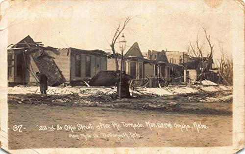 Real Photo Postcard 22nd & Ohio Street After Tornado in Omaha, Nebraska~121277 ()