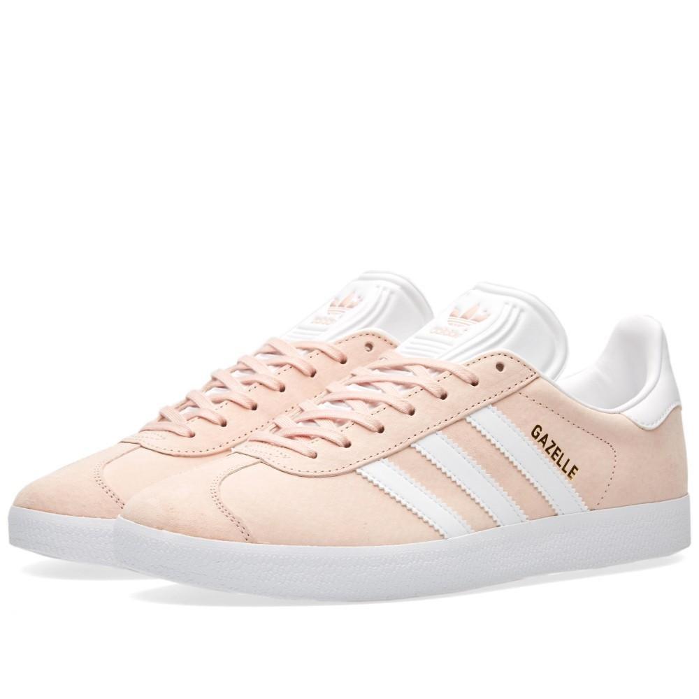 adidas Men's Gazelle Casual Sneakers B01IBVDJ0C 9.5 D(M) US|Vappnk,white