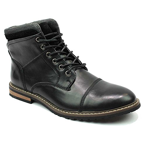 Mens Ankle Boot Cap Toe Derby Modern Lace Up Round Toe By AZAR MAN