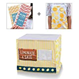 Easy Lemonade Stand Bundle for Kids with Nothing to Assemble! Fits Your Square Card Table for an Easy Summertime Biz. Bundle Includes a Traditional Themed Cover, Apron and 50 Paper Straws! offers
