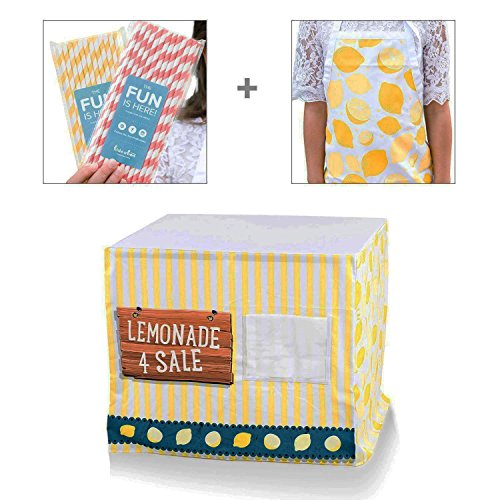 Easy Lemonade Stand Bundle for Kids with Nothing to Assemble! Fits Your (Traditional Lemonade)