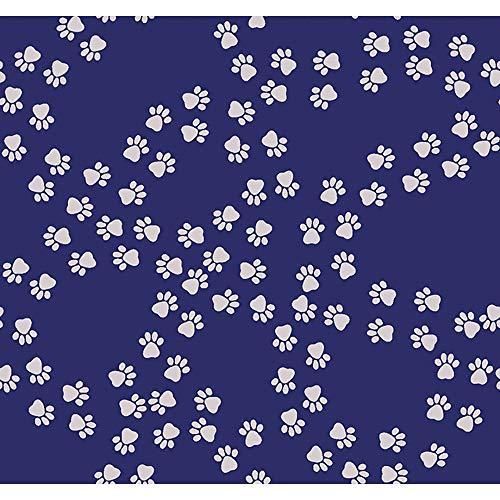 Clothworks Jocelyn Proust Playful Pups Navy Meander Paw -