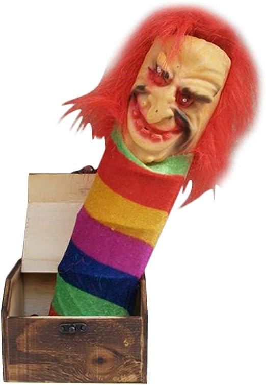 Coomir Broma de Madera Caja de susto Sorpresa Broma Horror Divertido Halloween Broma Juguetes