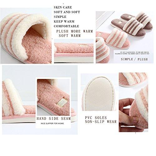 Mousse Chaussons Maison Coton Maison Femmes Chaud Bois Automne Plancher Soft Mémoire d'intérieur Hommes Black Hiver Couple Bottom 8gqrw8I
