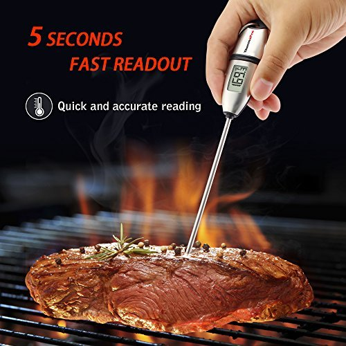 ThermoPro TP02S Instant Read Meat Thermometer Digital Cooking Food Thermometer with Long Probe for Grill Kitchen BBQ Smoker Thermometer
