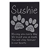 Amazing Items Personalized Pet Grave Marker and Memorial Stone For Your Cat And Dog Free Customization Memorial Headstone Design 9, 12''X8'' Rectangle