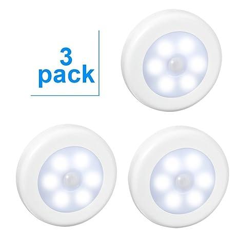 Aiguozer- Paquete de 3unidades LED con sensor de movimiento de luz nocturna.