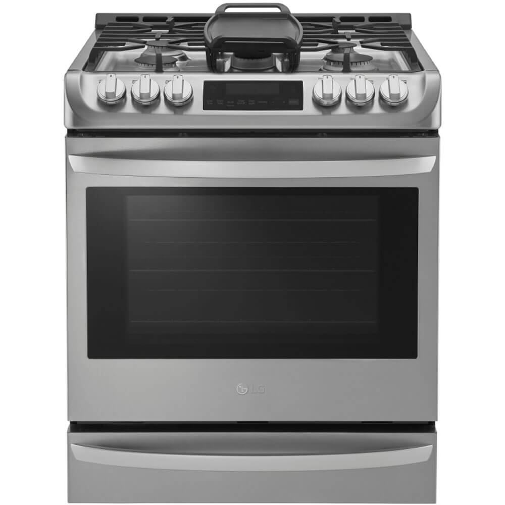 "LG LSG4513ST 30"" Stainless Steel Gas Slide-In Sealed Burner Range - Convection"