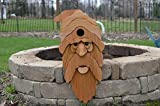 Large Bearded Old Man Cedar Birdhouse with Flush Mount Hardware