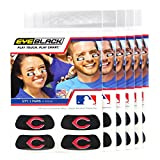 (24 Strips) Eye Black - Cincinnati Reds MLB Eye Black Anti Glare Strips, Great for Fans & Athletes on Game Day