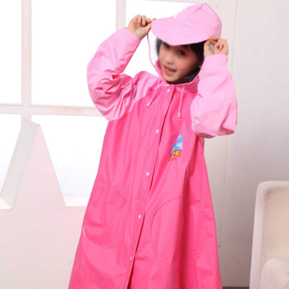 Red XXXL Red XXXL Rainnna Rain Jacket Outdoor Reusable Rain Suit Waterproof Hooded Coat Camping Clothing for Youth Boys Toddler,Red,XXXL