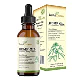NutriCrown Full Spectrum Hemp Oil Extract for Pain Relief :: Reduces Stress and Anxiety :: Anti Inflammatory :: Improves Sleep, Mood :: Rich in Omega 3 6 9 Fatty Acids:: 1 Fl Oz (30 ml) Review